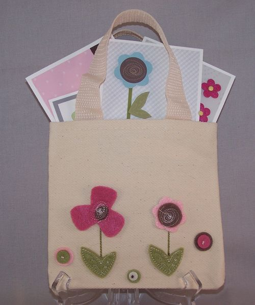 Tote bag with cards