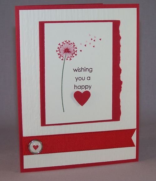 Simple Happy Hearts card